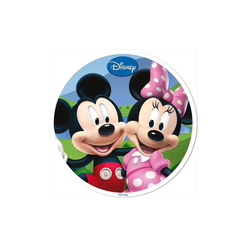 disque en azyme mickey et minnie 4 planete gateau. Black Bedroom Furniture Sets. Home Design Ideas