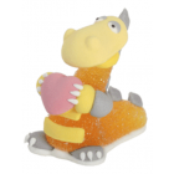 Dinosaure en gélatine et sucre orange
