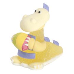 Dinosaure en gélatine et sucre jaune