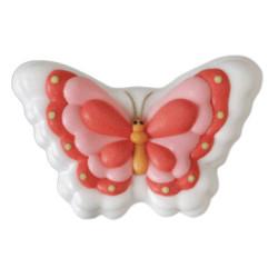 2 papillons rose et blanc