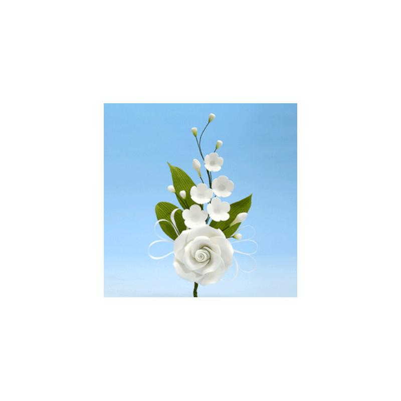 branche de rose blanche planete gateau sarl kitay. Black Bedroom Furniture Sets. Home Design Ideas