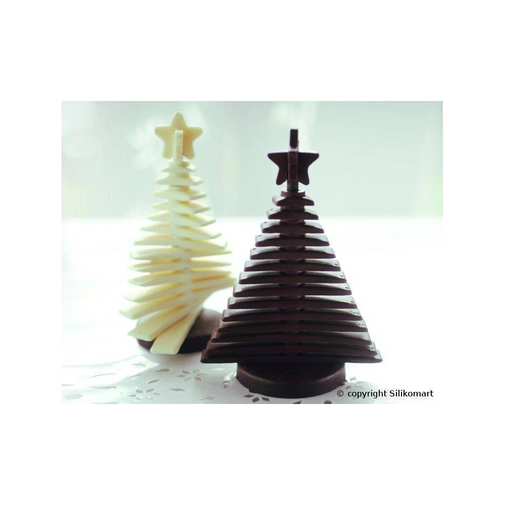 moule silicone chocolat sapin en 3d silikomart planete gateau sarl kitay. Black Bedroom Furniture Sets. Home Design Ideas