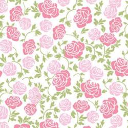 Feuilles de transfert à Roses rose pour Chocolat (2pcs)