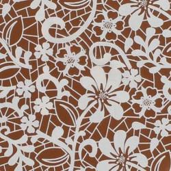 Feuilles de transfert dentelle blanche pour Chocolat (2pcs)