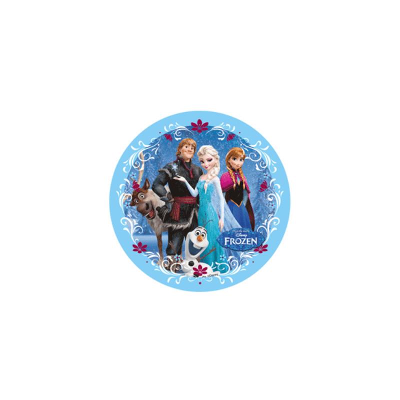 Disque en sucre la reine des neiges 4 personnages planete gateau sarl kitay - Personnage de la reine des neiges ...