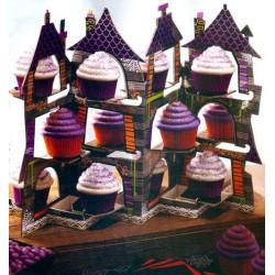 Présentoir à Cupcake Maison Hantée Wilton
