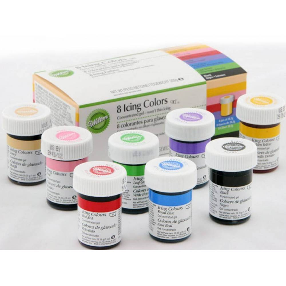 kit de 8 colorants wilton loading zoom - Colorant Wilton