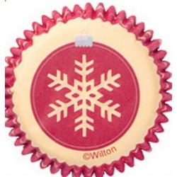 100 Mini caissettes Wilton noël flocons de neige