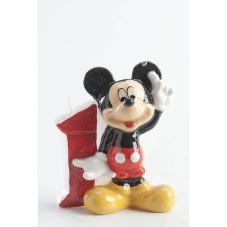 Mickey Candle 1 year old