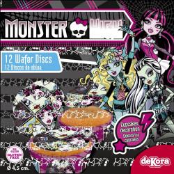Disques Monster High pour cupcake en Azyme