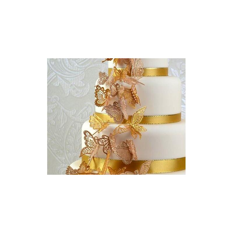 Tapis dentelle Papillons en 3D Cake lace