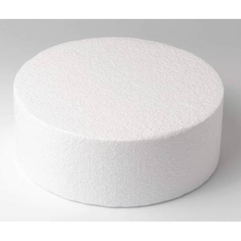 Cake DUMMY ROND polystyrène Diamètre 25cm, hauteur 10cm