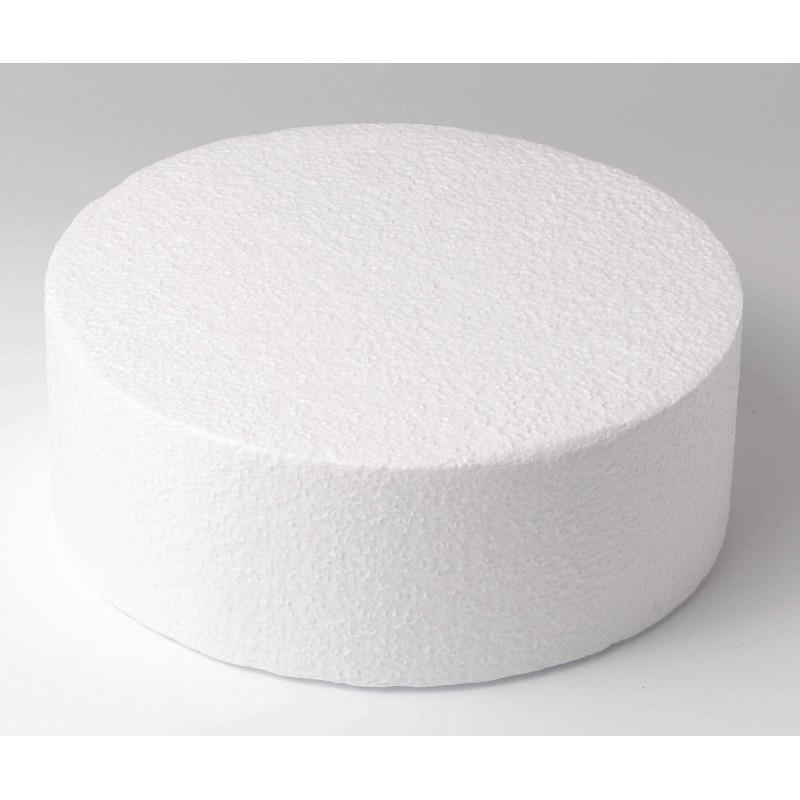 Cake DUMMY ROND polystyrène Diamètre 20cm, hauteur 10cm