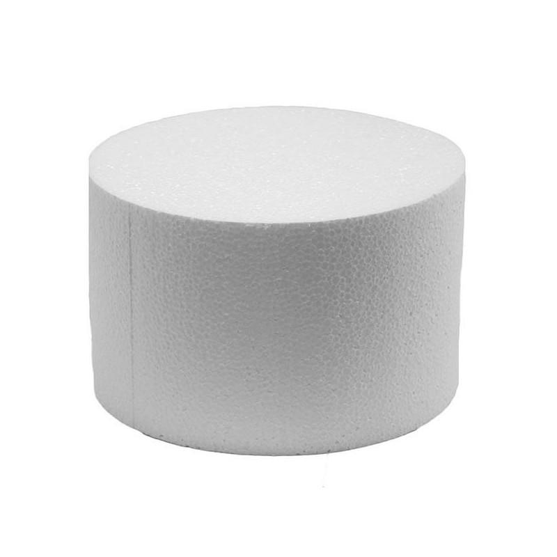 Cake DUMMY ROND polystyrène Diamètre 15cm, hauteur 10cm