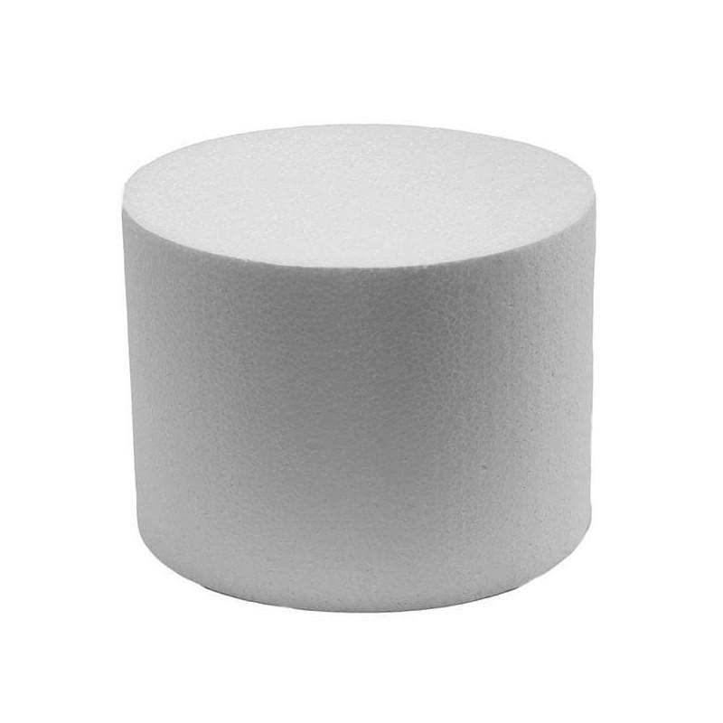 Cake DUMMY ROND polystyrène Diamètre 10cm, hauteur 7cm