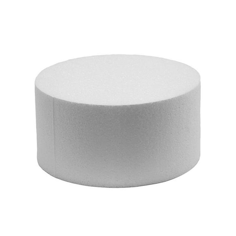 Cake DUMMY ROND polystyrène Diamètre 15cm, hauteur 7cm