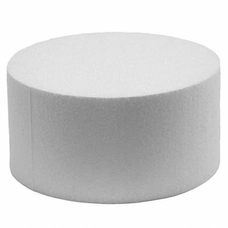 DUMMY Cake ROND polystyrène Diamètre 15cm, hauteur 7cm