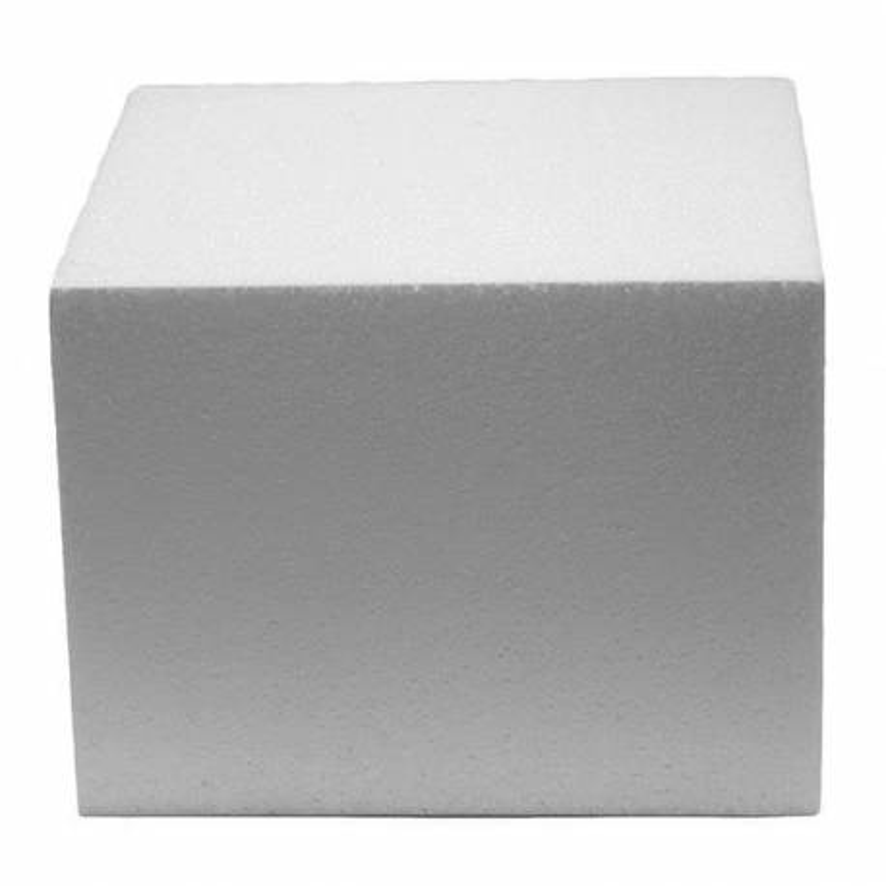 DUMMY Cake CARRÉ polystyrène de 15cm, hauteur 10cm