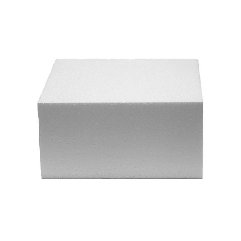 Cake DUMMY CARRÉ polystyrène de 15cm, hauteur 7cm