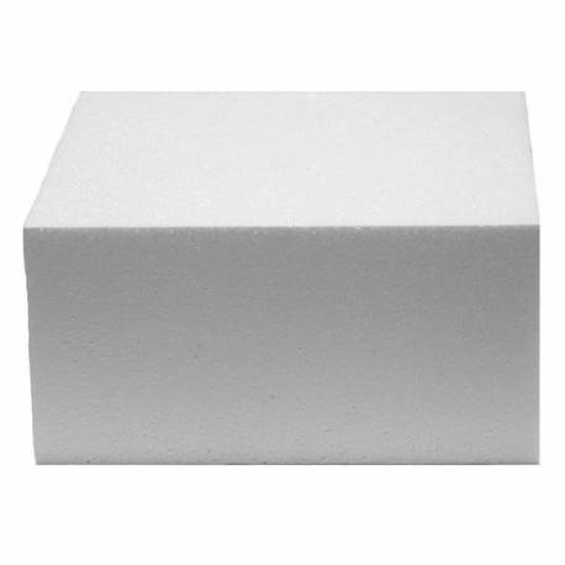 Pastel de poliestireno DUMMY cadrado 15cm, altura 7cm