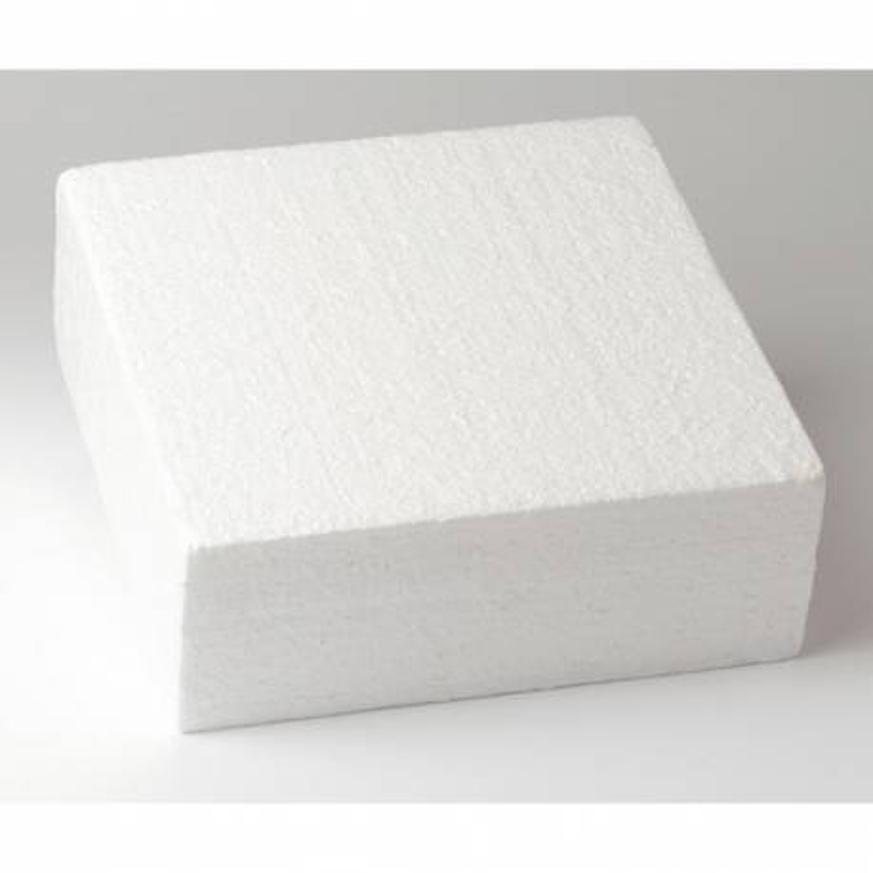Cake DUMMY CARRÉ polystyrène de 30cm, hauteur 7cm