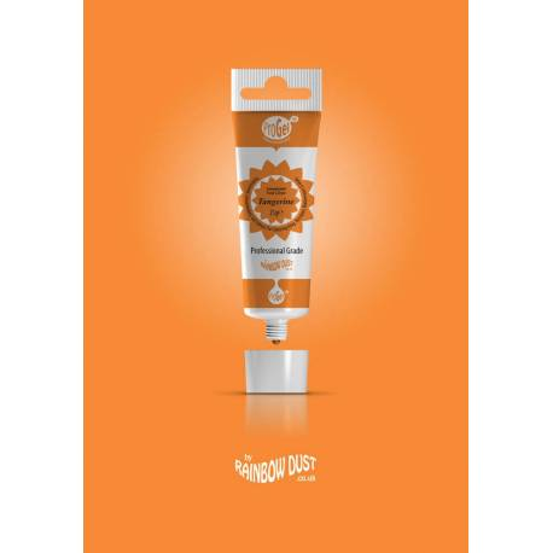 Colorant alimentaire ProGel orange mandarine Rainbow Dust