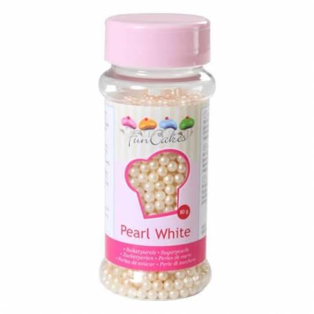 Perles nacrées Blanches en sucre 4mm