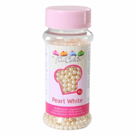 SugarPearls White 4mm FunCakes