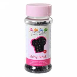 Perles noires brillantes 4mm