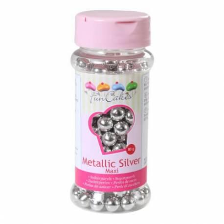 Perlas de azúcar de plata 8mm