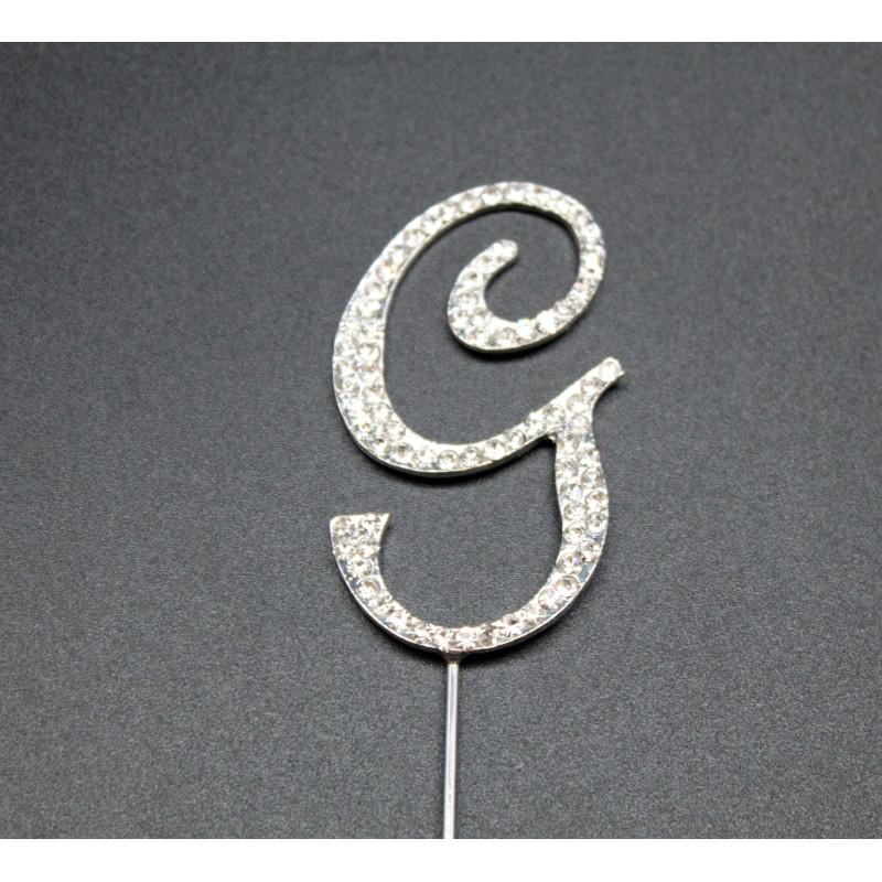 Strass letter G for cakes