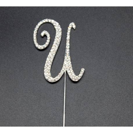 Strass U letter for cakes
