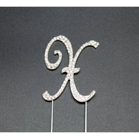 X letter in rhinestones for cakes
