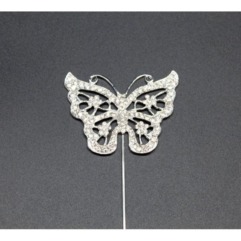 Papillon en strass pour gâteaux