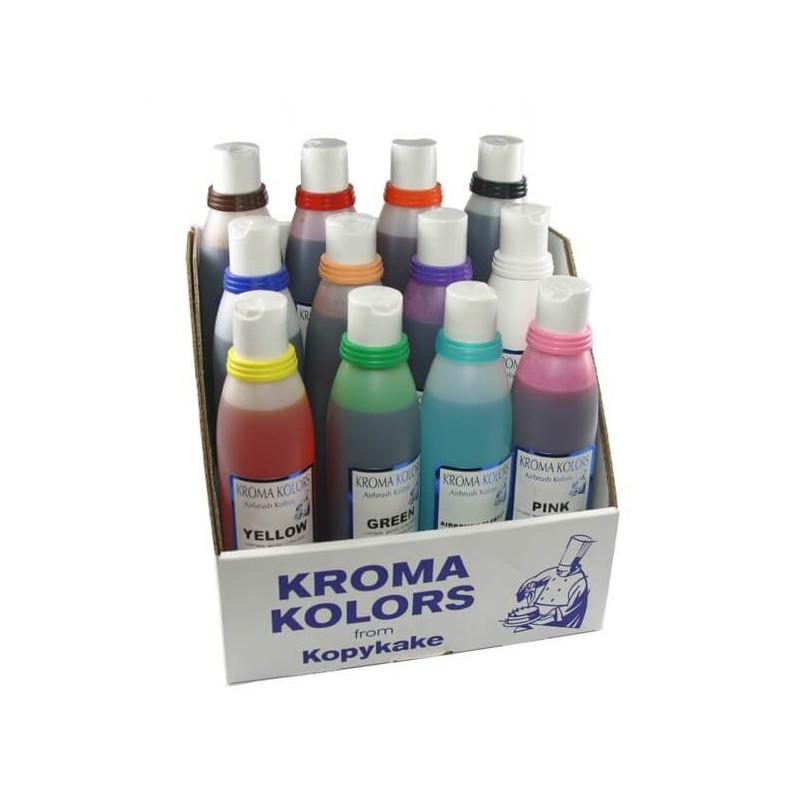KROMA pack de 12 colorants pour Aérographe