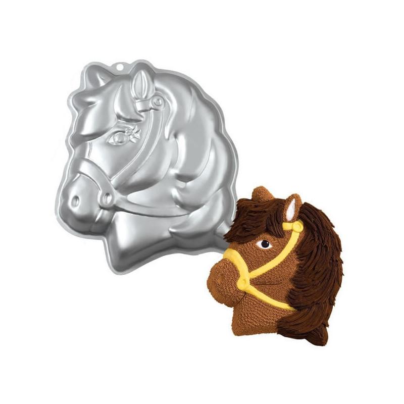 Molde de cocción en forma de caballo unicornio con cabeza de poni