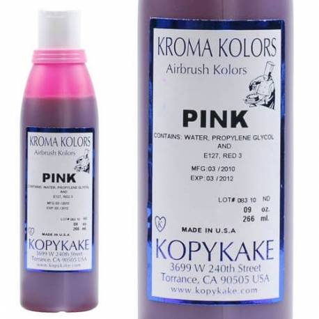 Kroma pink edible colouring agent for airbrush