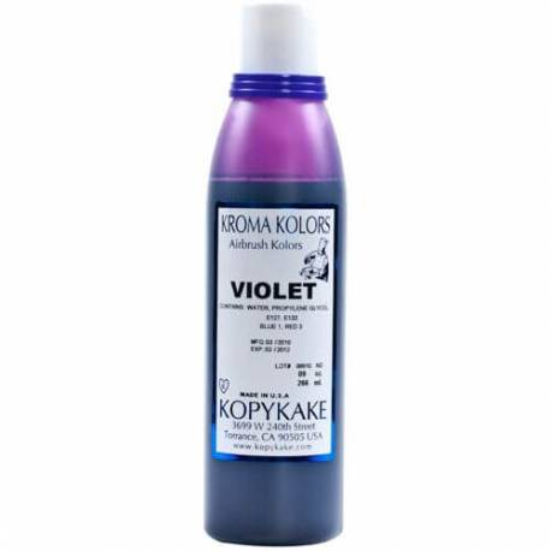Kroma violeta aerógrafo colorante alimentario