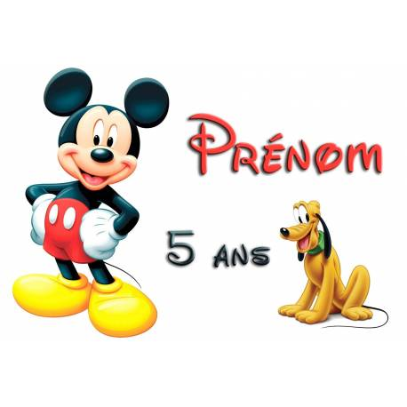 Impression alimentaire MICKEY personnalisée