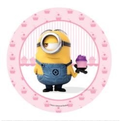 Disque azyme Minion - Cupcakes -