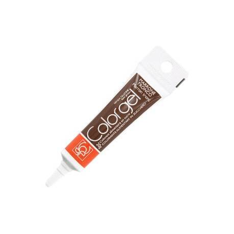 Color gel Colouring brown chocolate
