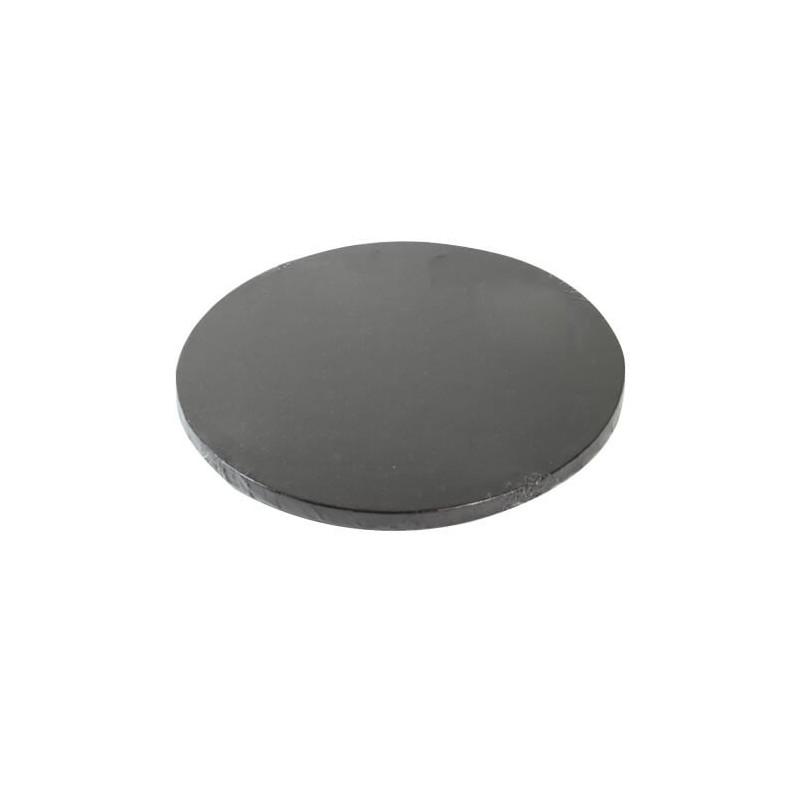 Drum ROUND cake board BLACK thick 25cm