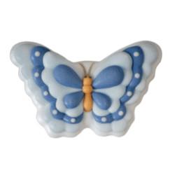 2 Papillons en sucre bleu