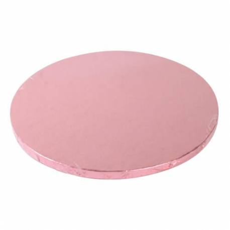 Drum ROUND cake board PINK thick 25cm