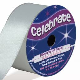 White 25mm Satin Ribbon