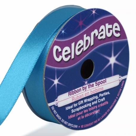 Satin Ribbon ICED BLUE - 6 meters long - 13mm wide