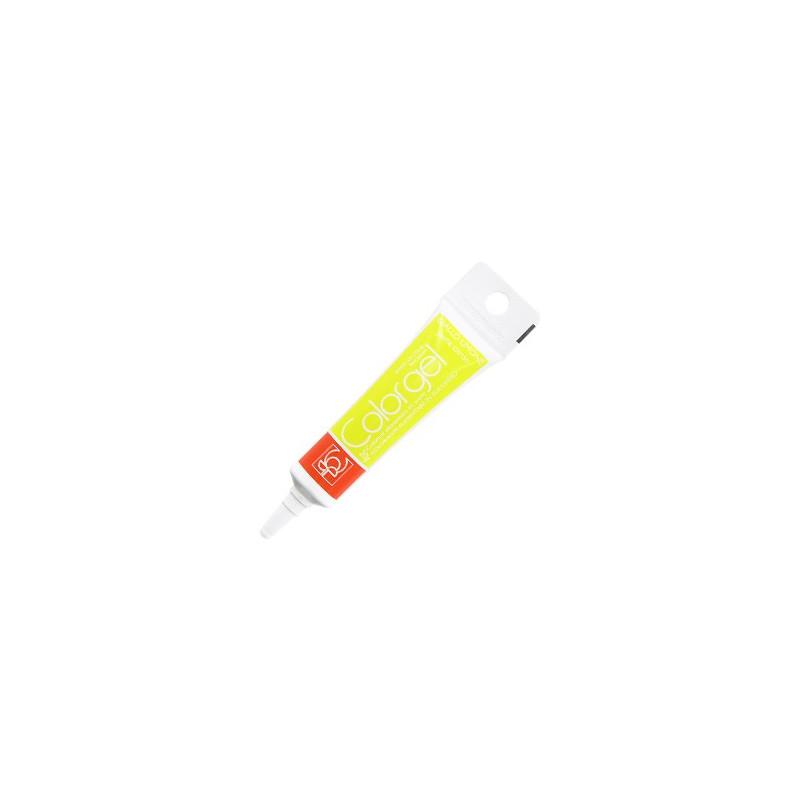 Tubo de gel de color de gel de color amarillo limón