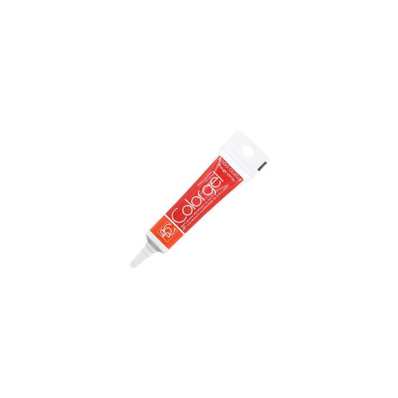 Tubo de teñido de gel de colorante tubo de colorante en rojo cereza
