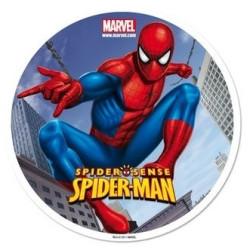 Disque en sucre Spiderman 16 cm
