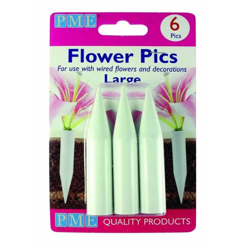 6 Pics pour fleurs - modèle LARGE